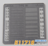 德国IBA TYP 38空间分辨率测试卡(200188)