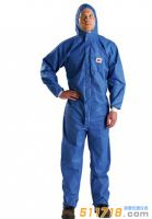 3M 4532+ 蓝色带帽连体防护服(Type5&6类防护)